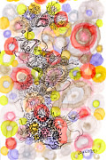 Overlapping Circles Metal Prints - Cilia Celebration Metal Print by Regina Valluzzi