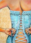 Back View Prints - Cinched and Beautiful Print by Debi Pople