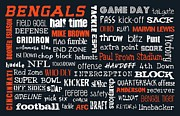 Cincinnati Digital Art Framed Prints - Cincinnati Bengals Framed Print by Jaime Friedman