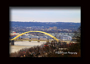 Ohio River Landscapes Posters - Cincinnati Bridges Poster by PJQandFriends Photography
