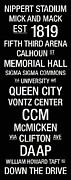 Memorial Hall Posters - Cincinnati College Town Wall Art Poster by Relpay Photos