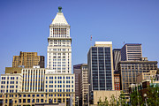 Architecture Art - Cincinnati Downtown City Buildings Business District by Paul Velgos