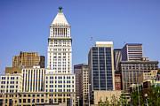Cincinnati Downtown City Buildings Business District Print by Paul Velgos