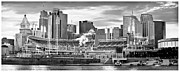 Queen City Framed Prints - Cincinnati Ohio 2004 Framed Print by Scott Meyer