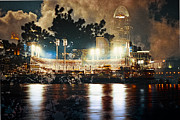 Cincinnati Cincinnati Reds Prints - Cincinnati Ohio V Print by Scott Meyer