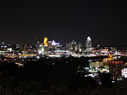 City Art - Cincinnati skyline at night from Devou Park by Cityscape Photography
