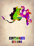 Irina  March - Cincinnati Watercolor Map