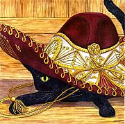 Wicked Kitty Metal Prints - Cinco De Mayo Metal Print by Catherine G McElroy