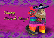 Donkey Digital Art - Cinco de Mayo Squirrel by Jeanette Kabat