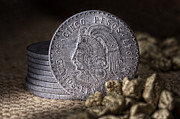 Coin Photos - Cinco Pesos Still Life by Tom Mc Nemar