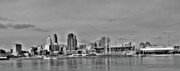 Cincinnati Framed Prints - Cincy Skyline Framed Print by David Bearden