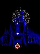 Cinderella Castle Fireworks Print by Benjamin Yeager