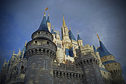 Castle Pyrography Metal Prints - Cinderella Castle - Walt Disney World Metal Print by AK Photography