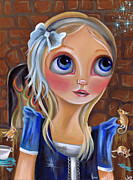 Illustration Painting Originals - Cinderella - Something Magical Awaits by Jaz Higgins