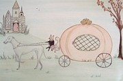 Castle Pastels - Cinderellas Carriage by Christine Corretti