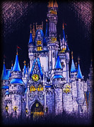Disney Mixed Media - Cinderellas Castle by Christina Riley