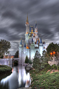 Cinderellas Castle Prints - cinderellas castle night HDR Print by Robert Jones