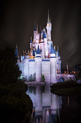 Mickey Photos - Cinderellas Castle Reflection by Adam Romanowicz