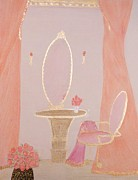 Decoration Pastels Posters - Cinderellas Vanity Poster by Christine Corretti