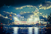 Cincinnati Cincinnati Reds Prints - Cinicnnati Ohio IV Print by Scott Meyer