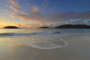 Tropical Sunset Prints - Cinnamon Bay At Sunset Print by Stephen  Vecchiotti