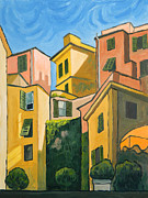 Terra Paintings - Cinque Terra Morning by Robert Holewinski