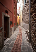 Riviera Framed Prints - Cinque Terre Alleyway Framed Print by Mike Reid