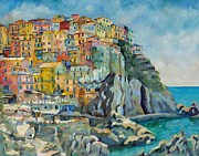 Chris Brandley Paintings - Cinque Terre by Chris Brandley