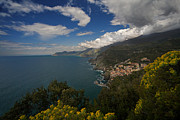 Postcard Art - Cinque Terre Coastline by Mike Reid