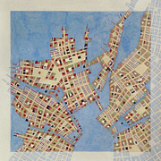 Cartography Mixed Media Prints - Cipher N. 13 Print by Federico Cortese
