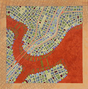 City Map Mixed Media - Cipher N. 14 by Federico Cortese