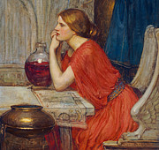 Wine-glass Paintings - Circe by John William Waterhouse