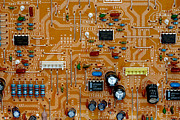 Circuitry Photos - Circiruit Board Macro by Amy Cicconi