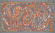 Mosaic Drawings - Circle Dance 2 by Nancy Kane Chapman