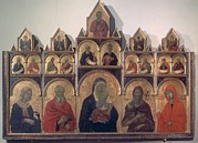 Shades Of Red Framed Prints - Circle Duccio Di Buoninsegna, Polyptych Framed Print by Everett
