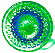 Photographers Mixed Media Prints - Circle Green Print by Anita Lewis
