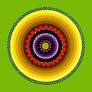 Colorful Art Digital Art - Circle Motif 222 by John F Metcalf