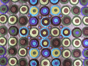 Earth Tapestries - Textiles Prints - Circles and Dots Print by Cherie Sexsmith