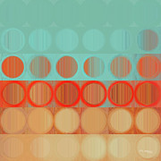 Decorator Series Prints - Circles and Squares 23. Modern Abstract Fine Art Print by Mark Lawrence