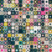 Decorator Series Prints - Circles and Squares 25. Modern Abstract Fine Art Print by Mark Lawrence