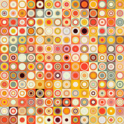Decorator Series Prints - Circles and Squares 26. Modern Abstract Fine Art Print by Mark Lawrence
