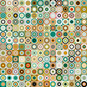 Decorator Series Prints - Circles and Squares 28. Modern Abstract Fine Art Print by Mark Lawrence
