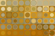 Decorator Series Prints - Circles and Squares 30. Modern Abstract Fine Art Print by Mark Lawrence