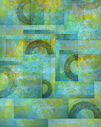 Total Abstract Mixed Media - Circles and Squares by Ann Powell