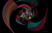 Centered Digital Art - Circles Fleurs Squares n Twirls by Naomi Richmond