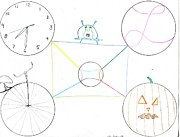 Clocks Drawings - Circles by Jeff Lambert