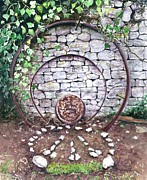 Found Art - Circles of Life by Barbara Jewell