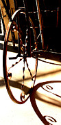 Wheel Pyrography Framed Prints - Circling In Shadow Framed Print by Robin James