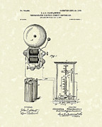 Circuit Drawings Posters - Circuit Control 1903 Patent Art Poster by Prior Art Design