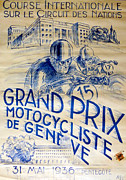 Racer Digital Art Posters - Circuit des Nations 1936 Poster by Nomad Art And  Design